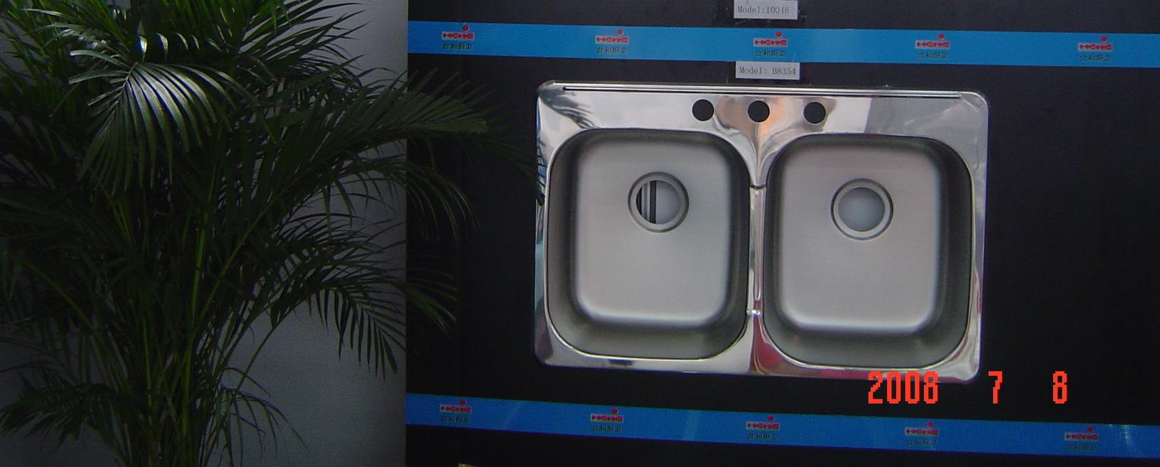 Kitchen Sink, Sink, Handmade Sink, Topmount Double Sink50/50