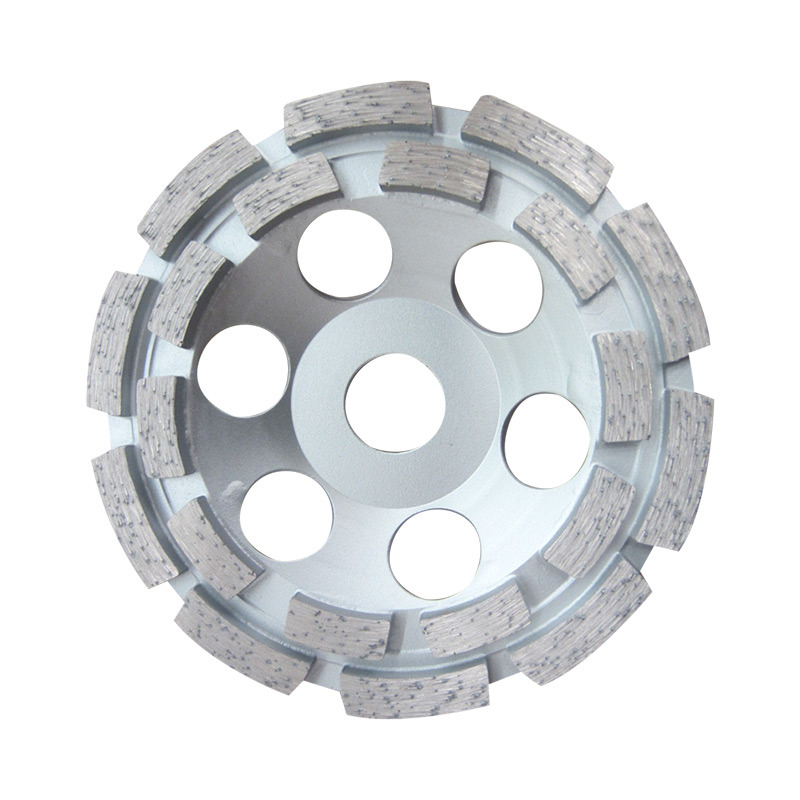 125mm Double Row Diamond Cup Grinding Wheel for Concrete Grinding