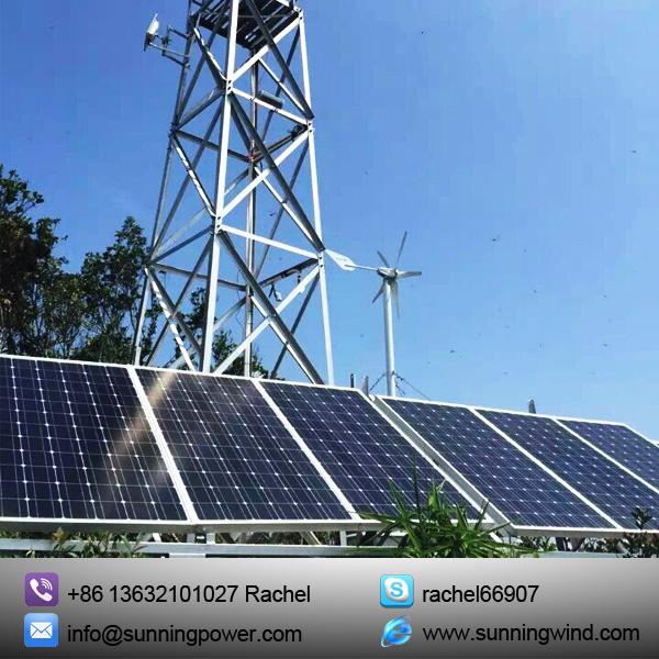 Wind Hybrid Solar Power System for CCTV