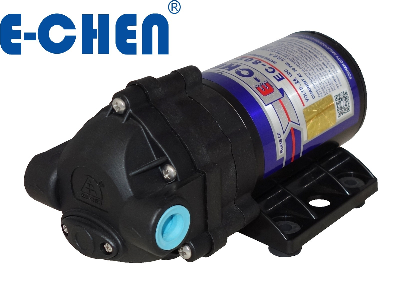 E-Chen 802 Series 75gpd Compact Diaphragm RO Booster Water Pump