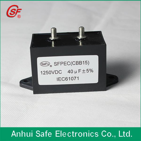 Metallized Polypropylene Film Capacitor Cbb15 for Power