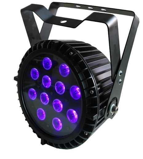 DMX512 12*12W RGBWA 5 In1 Outdoor LED Flat Slim PAR
