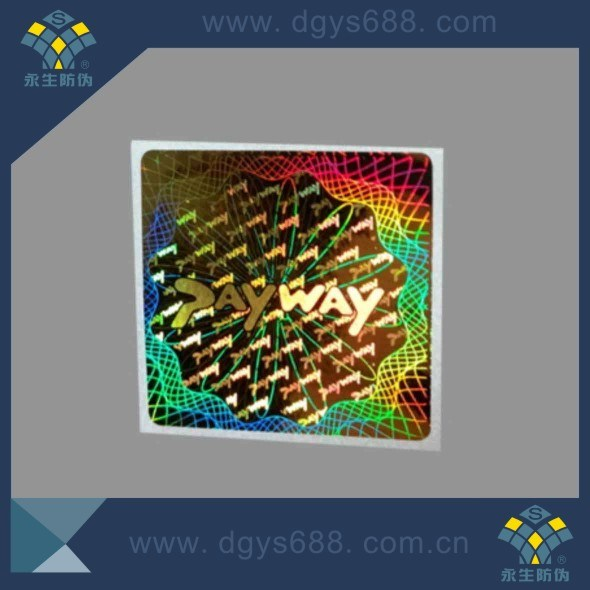 Custom Complicated Rainbow Effect Laser Hologram Sticker