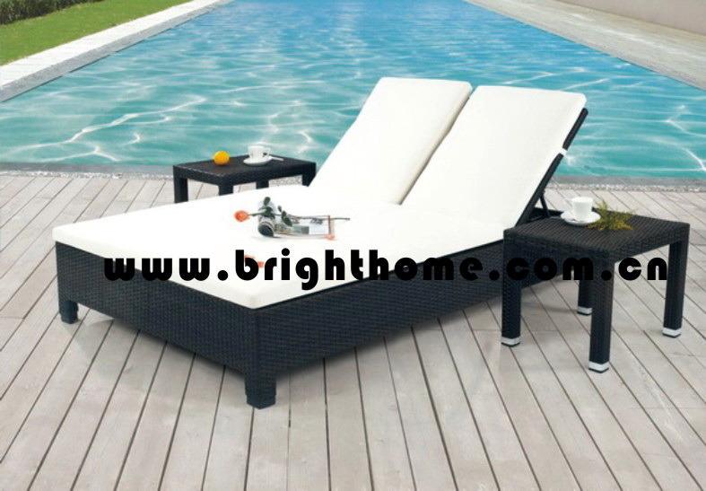 Wicker Outdoor Lounge Set / Beach Chair / Daybed (BG-MT11)