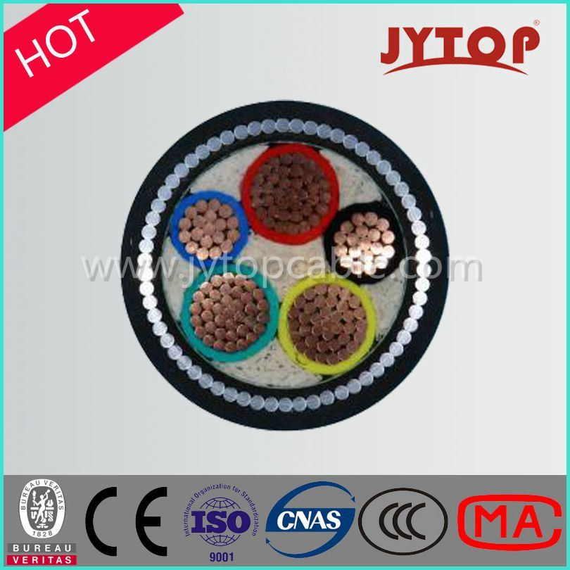 0.6/1 Kv 3+2-Core XLPE Insulation, Steel Tape Armoured Cable, PVC/PE Sheath Power Copper Cable