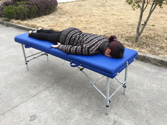 Light Weight Aluminium Massage Table Amt-003 with Adjustable Backrest