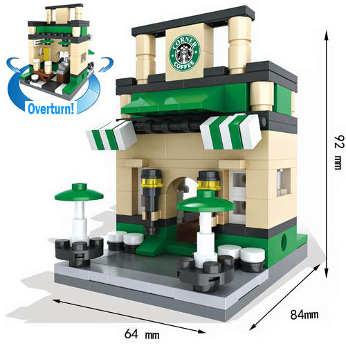 Creative Educational Toys Street Views Micro Blocks for Kids to Build Their World 10253006