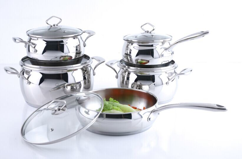 Stainless Steel Cookware Set (apple shape)