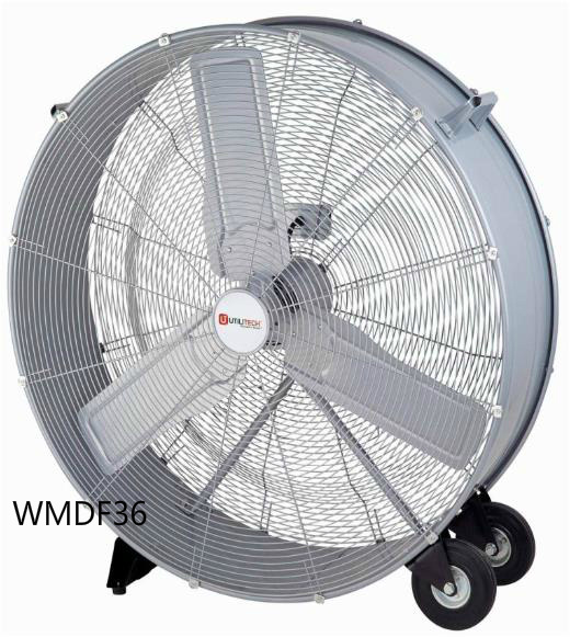 36 Inch High Volume Fan, High Velocity Fan, Drum Fan for Workshop, Patio, Basement, Warehouse