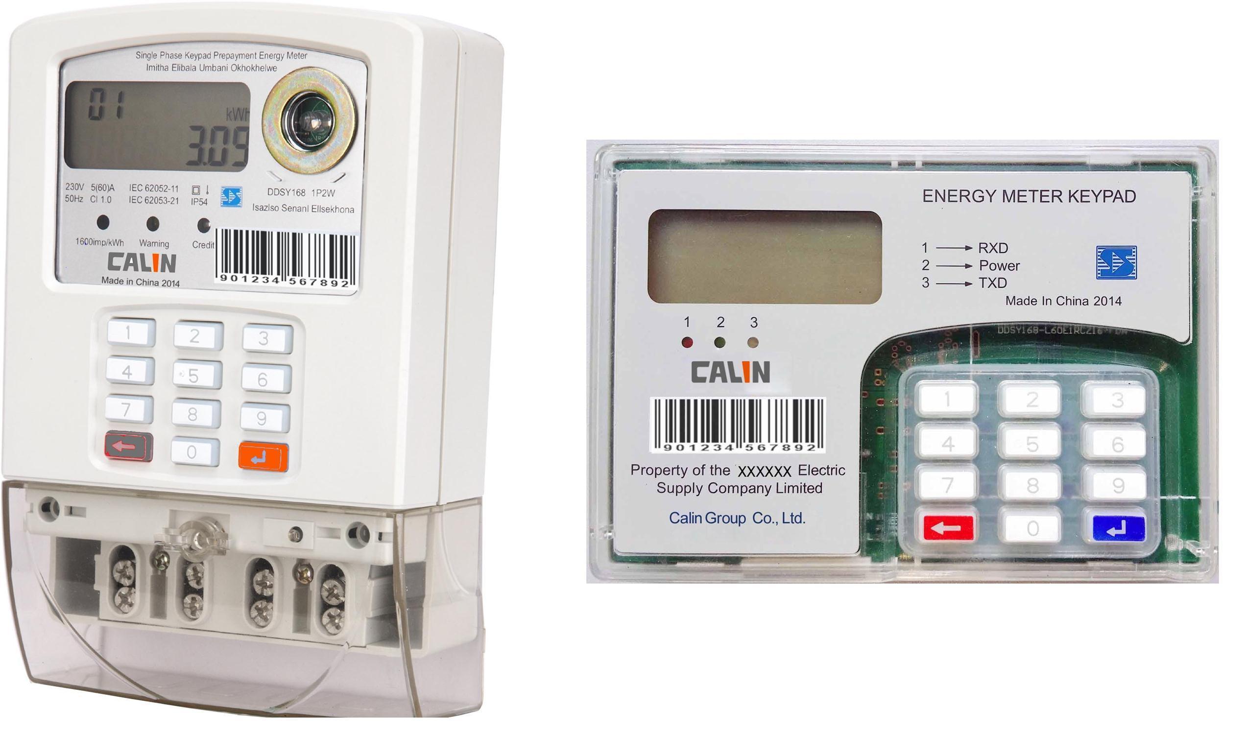 Single Phase Sts Split Keypad Prepaid/Prepayment Energy Meter