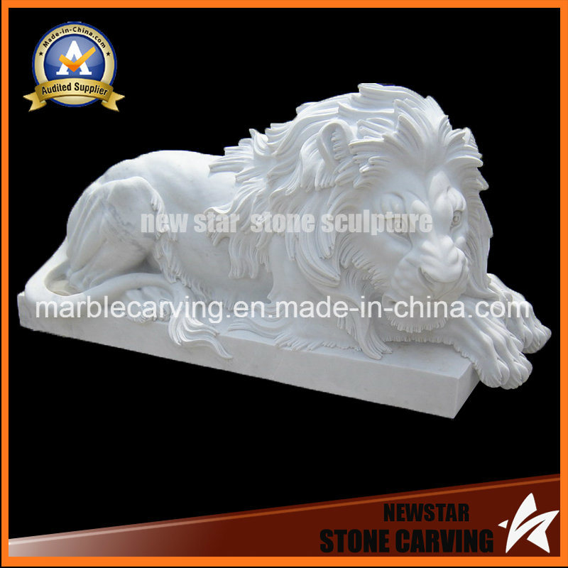 Stone Statue Animal Sculpture Marble Lion for Home Dcoration