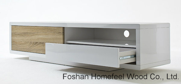 Fashion White Sliding Door LCD TV Stand (HF-EY08259)