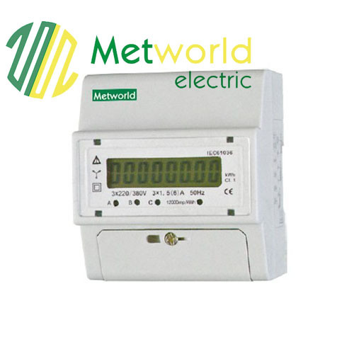 Three-Phase DIN-Rail Electronic Energy Meter Five Module