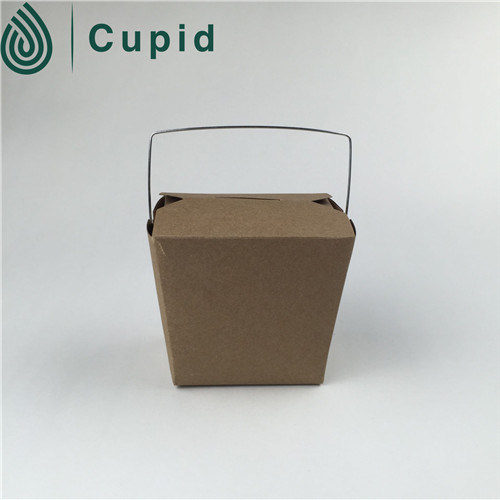 Biodegradable Disposable Packaging Paper Take Away Noodle Box