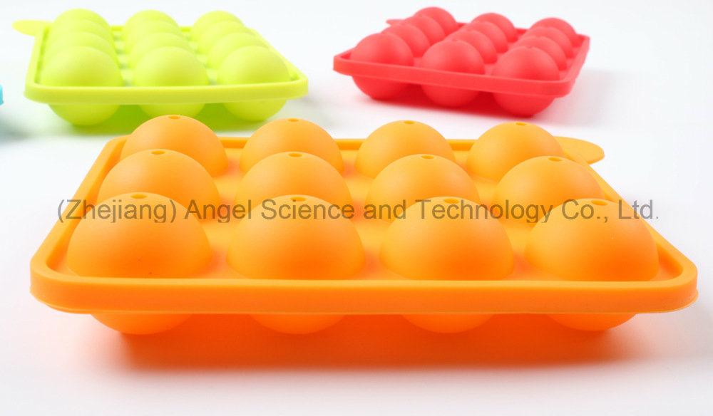 FDA LFGB Standard 12 Cavities Round Silicone Lolly Pop Candy Mold Mini DIY Silicone Cake Mold Sc11