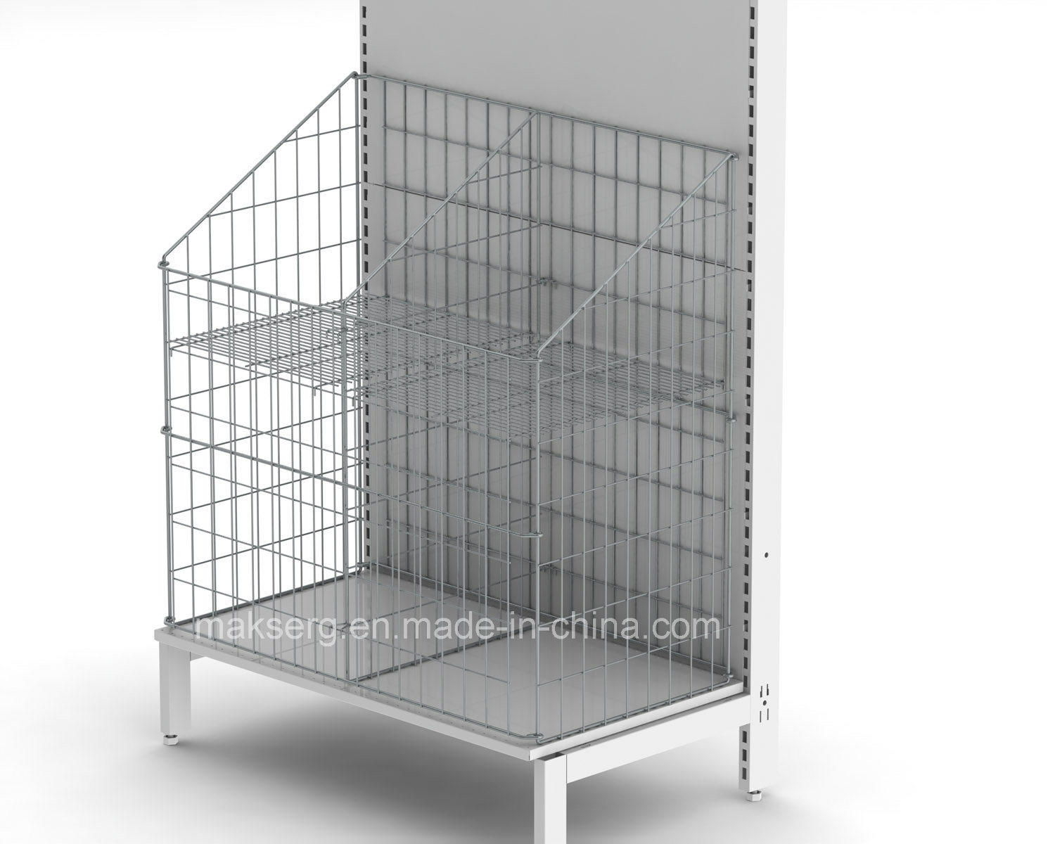 Powder Coated Metal Storage Shelf for Malls