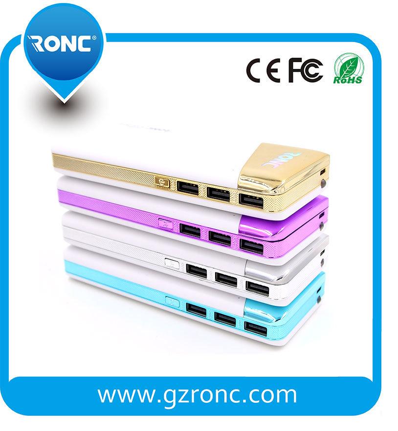 LED Light Display Power Bank with 2 USB Port Power Bank