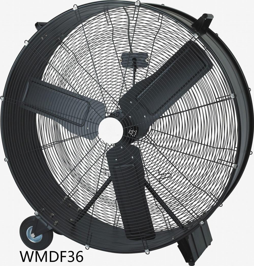 36 Inch High Volume Fan, High Velocity Fan, Drum Fan for Workshop, Patio, Basement, Warehouse