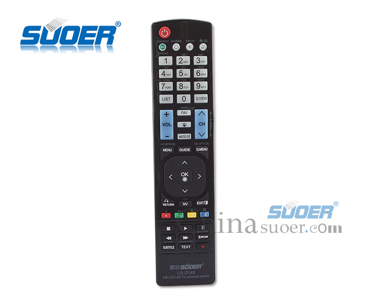 Suoer LCD LED Universal TV Remote Control for LG (LG-214E)