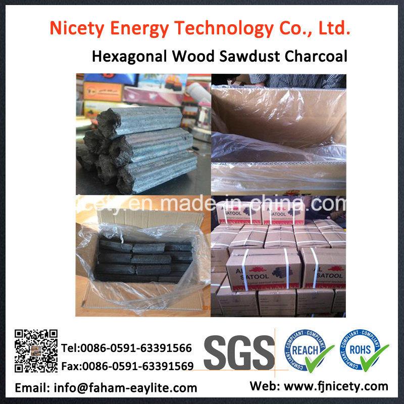 Hexagonal Hardwood BBQ Sawdust Charcoal