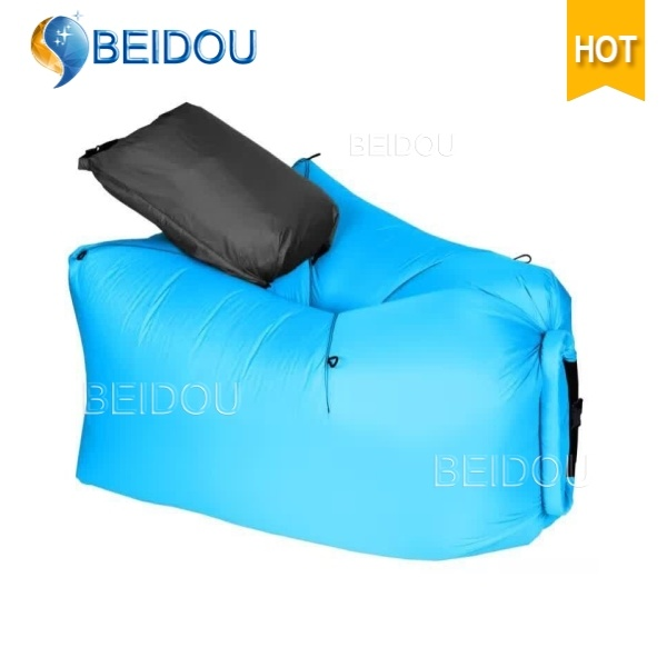 One-Mouth Inflatable Air Sofa Bed Lazy Bean Sleeping Bag Hammock