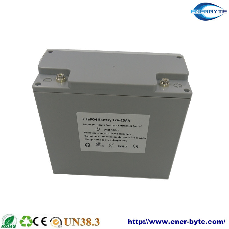 Sealed LiFePO4 Battery Pack 12V 20ah