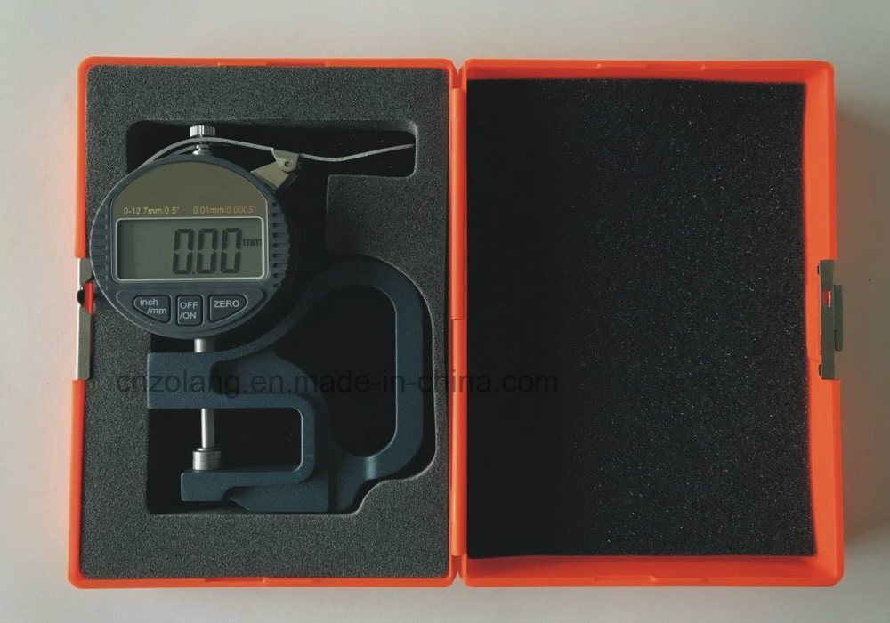 0-12.7/0.01mm Blue Handle Digital Thickness Gauge