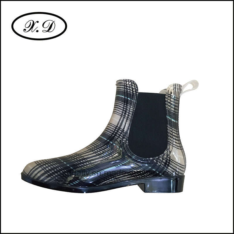 Fashion Woman Rain Boots with Elastic