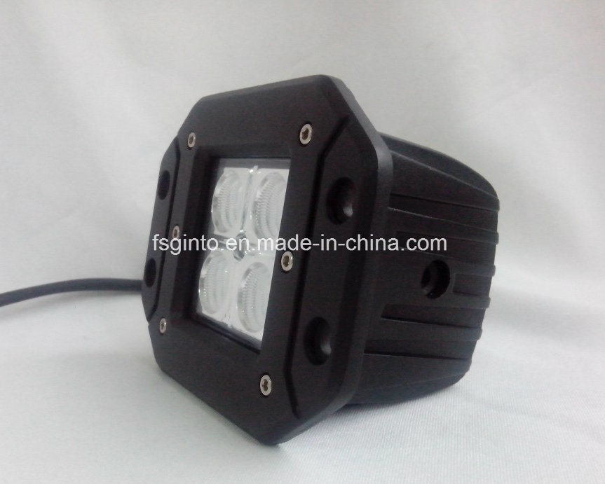 Flush Mount 16W CREE LED Work Light for Jeep (GT1022A-16W)