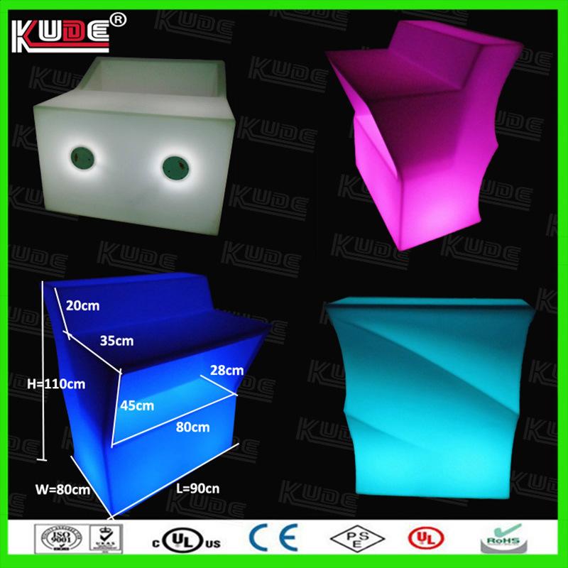 Wholesale Plastic Furnitures LED Bar Counter