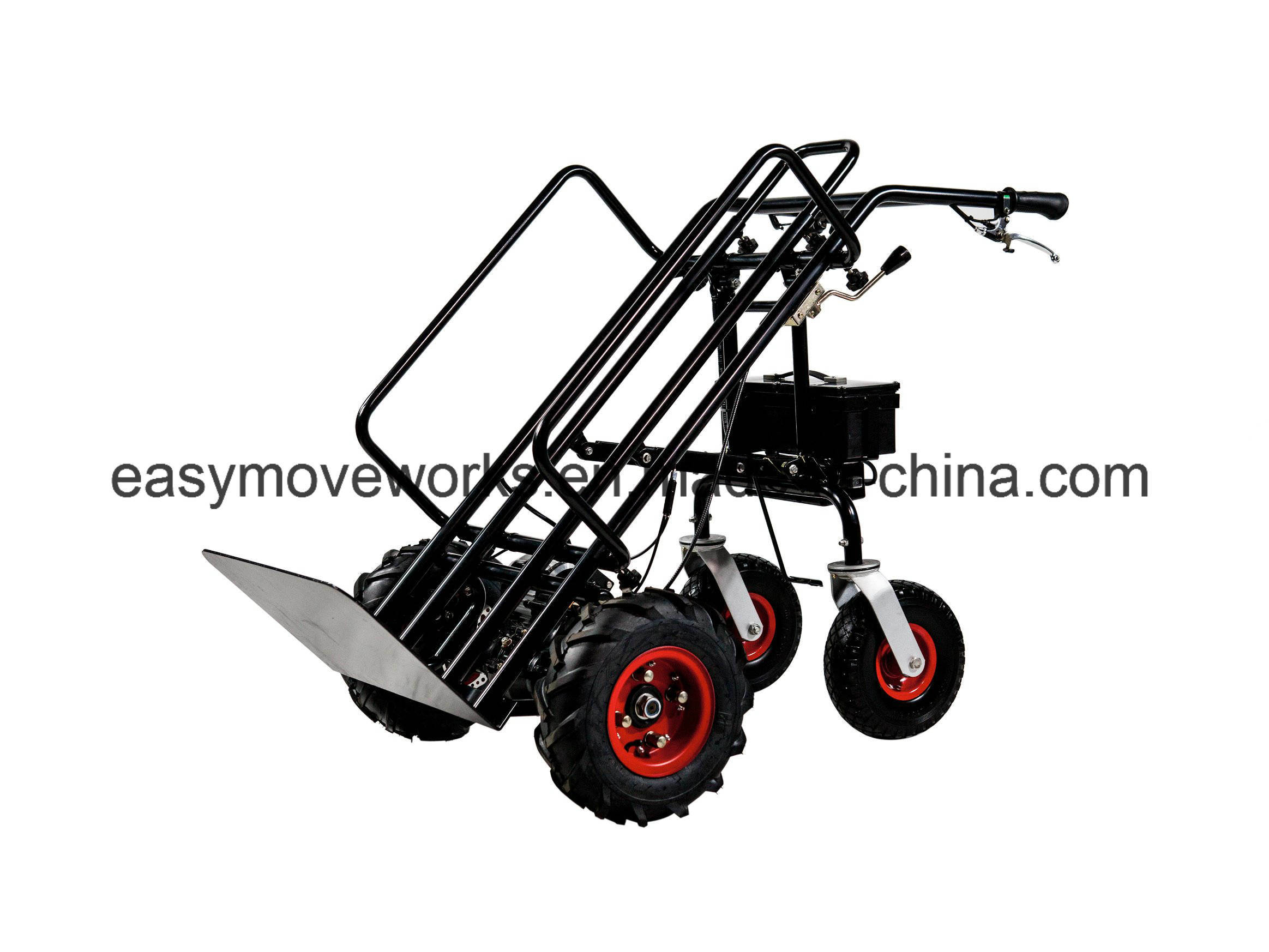 Vertical Fold Pallet Platform Electric Drive Cart Electrical Trolley for Gardening Architecture Warehousing Agriculture