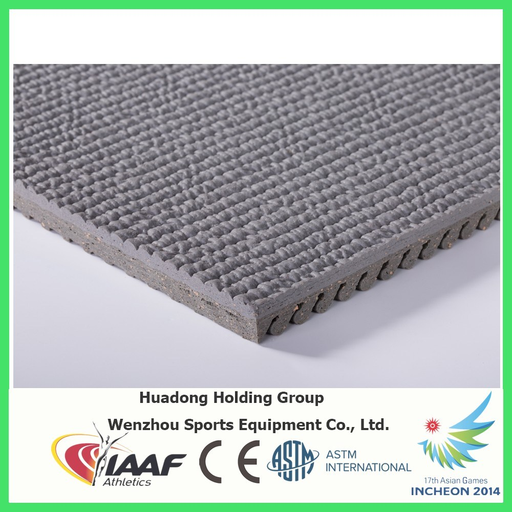 Professional Manufacturer Prefabricated Synthetic Rubber Running Track
