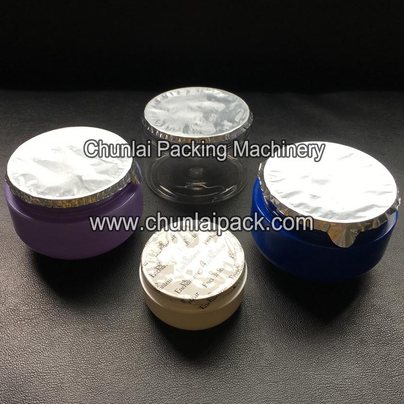 Body Lotion Plastic Jar Sealing Machine