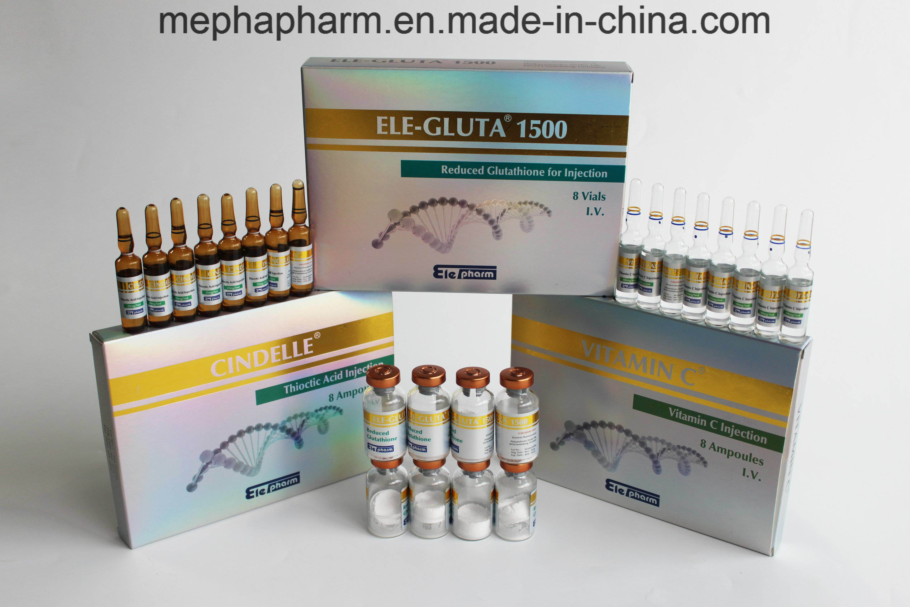 Factory Supply Directly Reduced IV Glutathione Injection 3000mg 1500mg 8+8+8