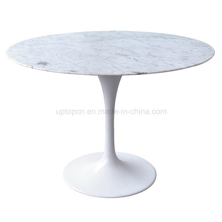 Modern Calaeatta White Tulip Arabescato Real Marble Dining Table (SP-GT356)