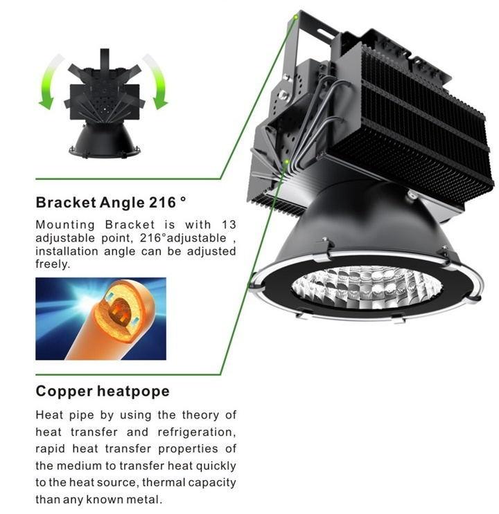 500W LED High Bay Light for Warehouse Light Industrial Lighting