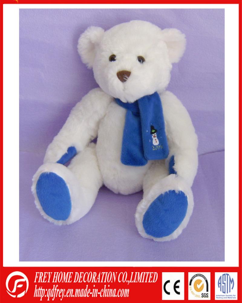 White Huggable Plush Soft Teddy Bear with T Shirt