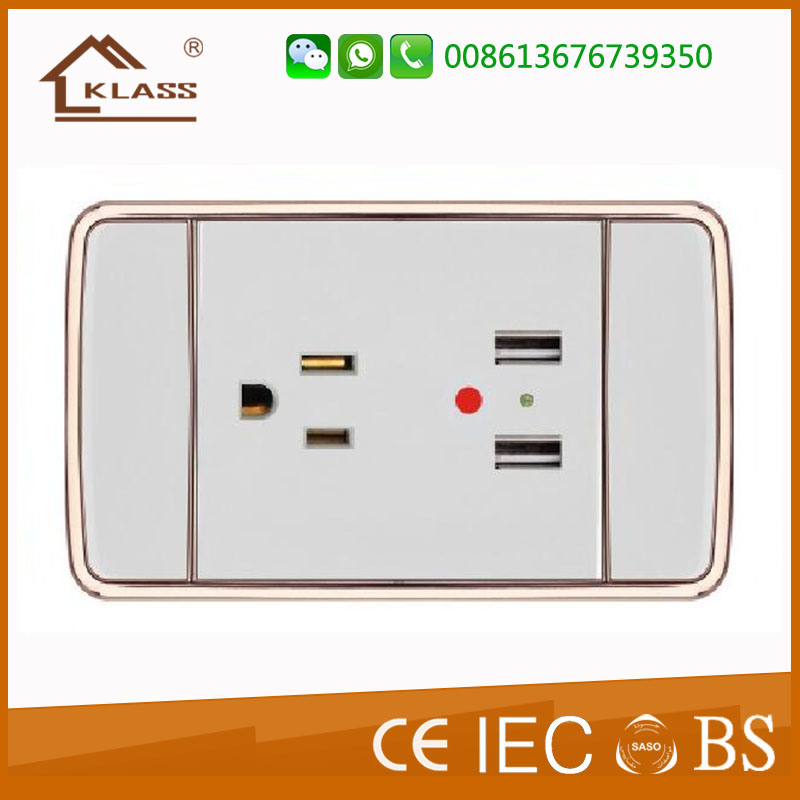 Wenzhou Switch Factory 1 Gang America Electrical Wall Socket