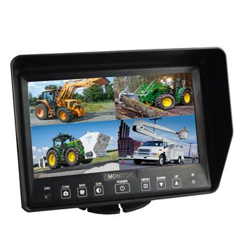 700tvl Waterproof IR Car Cameras/7 Inch Quad Split Screen Monitor