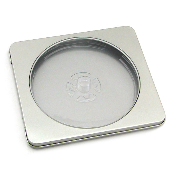 Square CD, DVD Tin Box with Window
