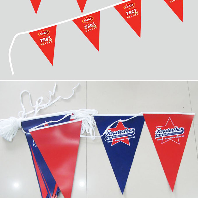 Colorful Durable Eco-Friendly String Bunting PVC Flags for Decoration