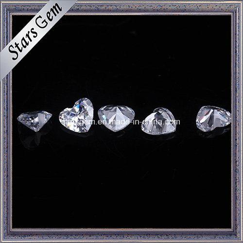 Beautiful Heart Cut 4X5mm Zirconia Beads for Jewelry