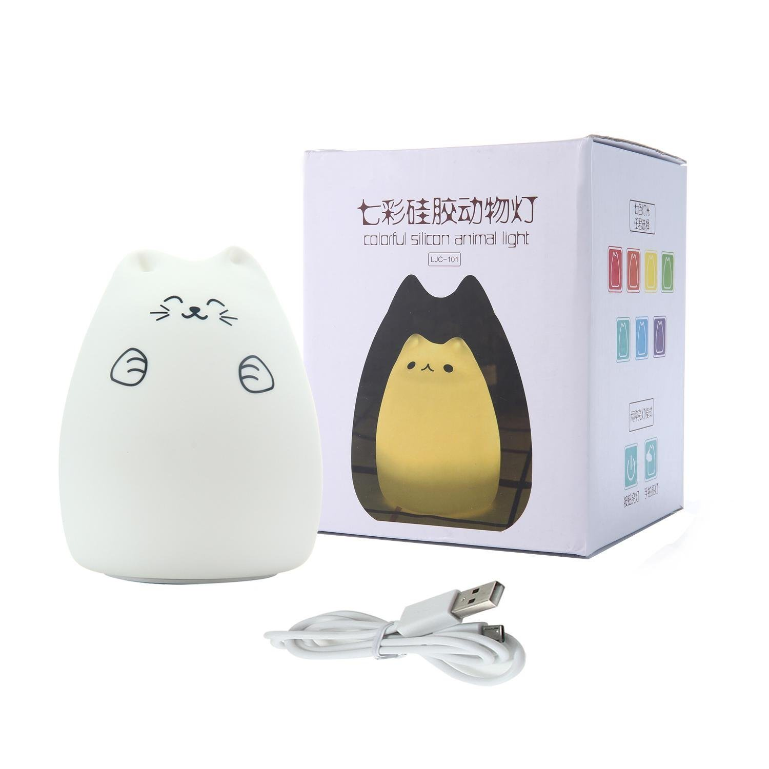 Silicone Cat Night Lights Children Cute Night Lamp