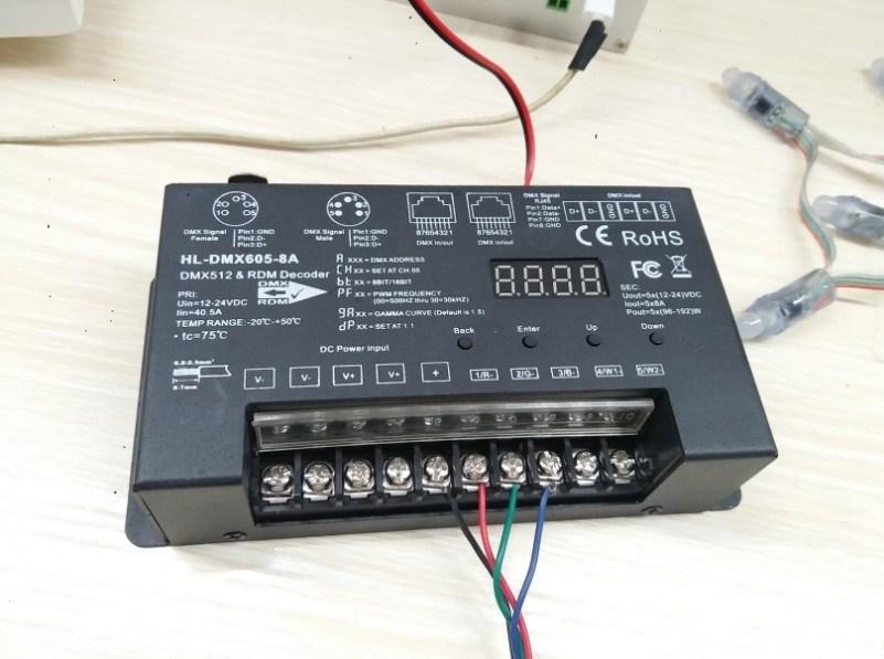 DMX512 Decoder 30kHz with Master Function
