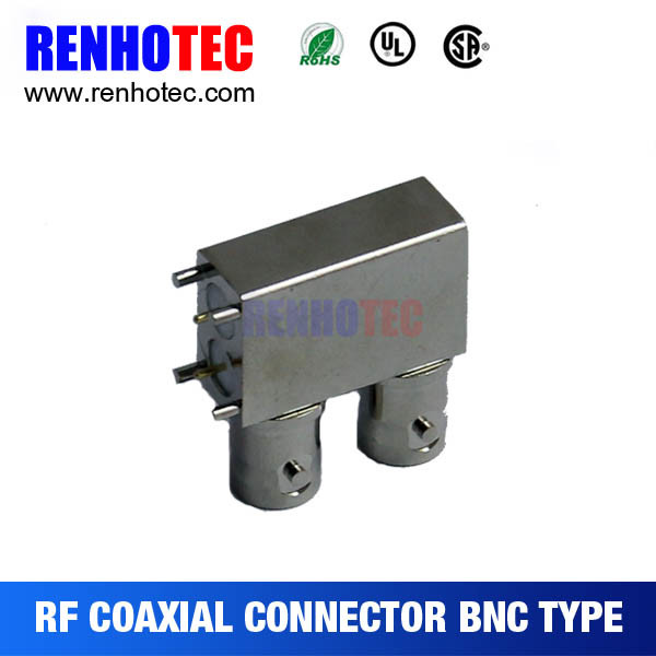 3G SDI PCB End Launch Receptacle RF Coaxial BNC Connector
