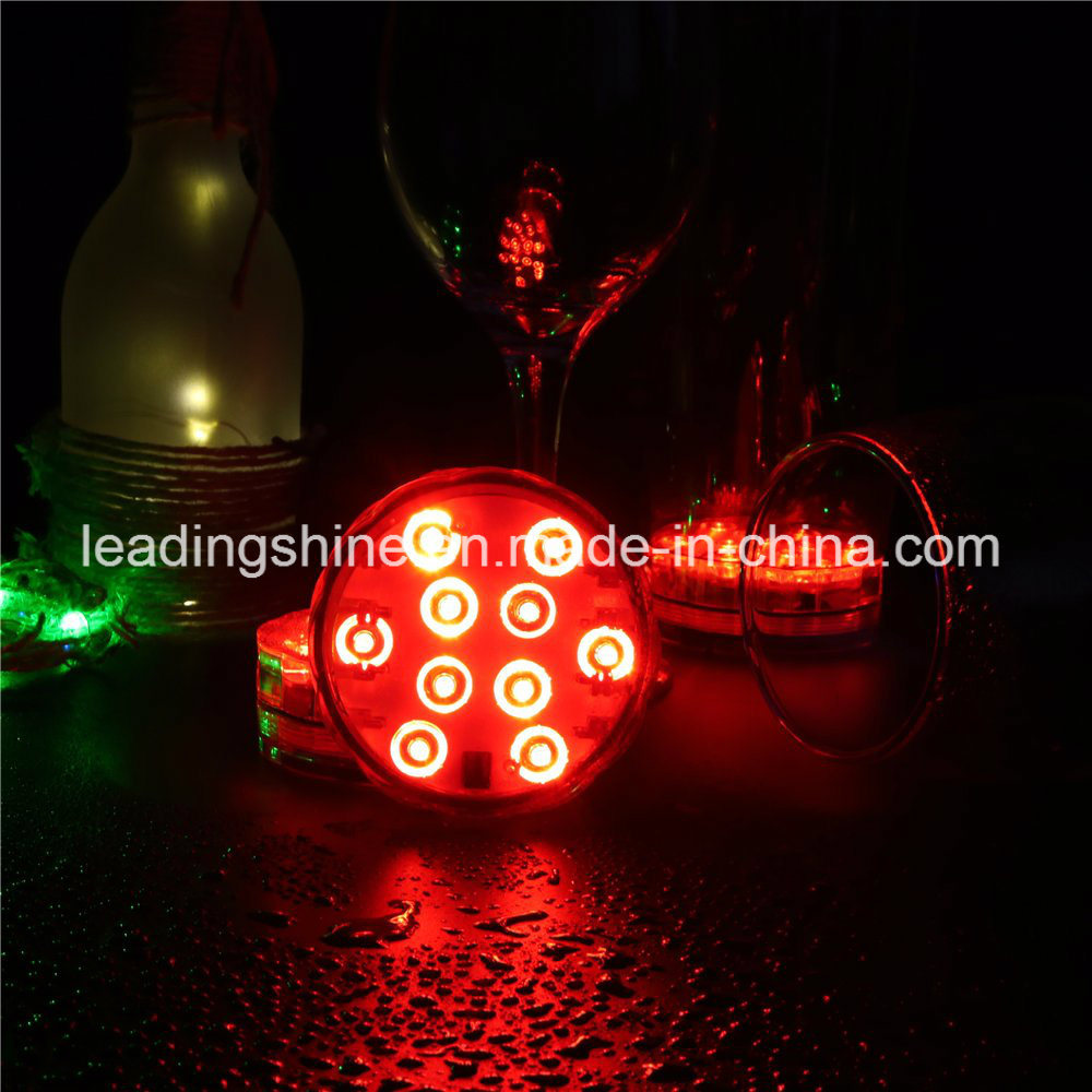 Remote Control 10 Colorful Color-Changing Submersible Hookah Light