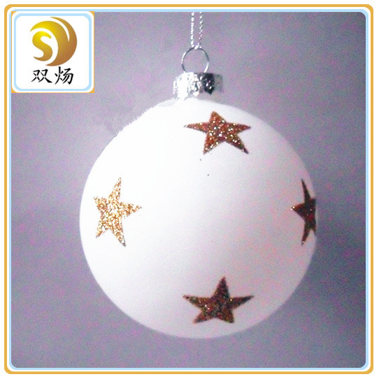 2016 Hot Sale Hand-Painted Christmas Flat Ball
