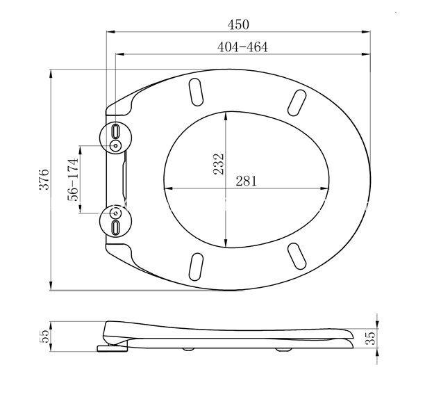 Popular Style Best Bidet Toilet Seat with Round Shape