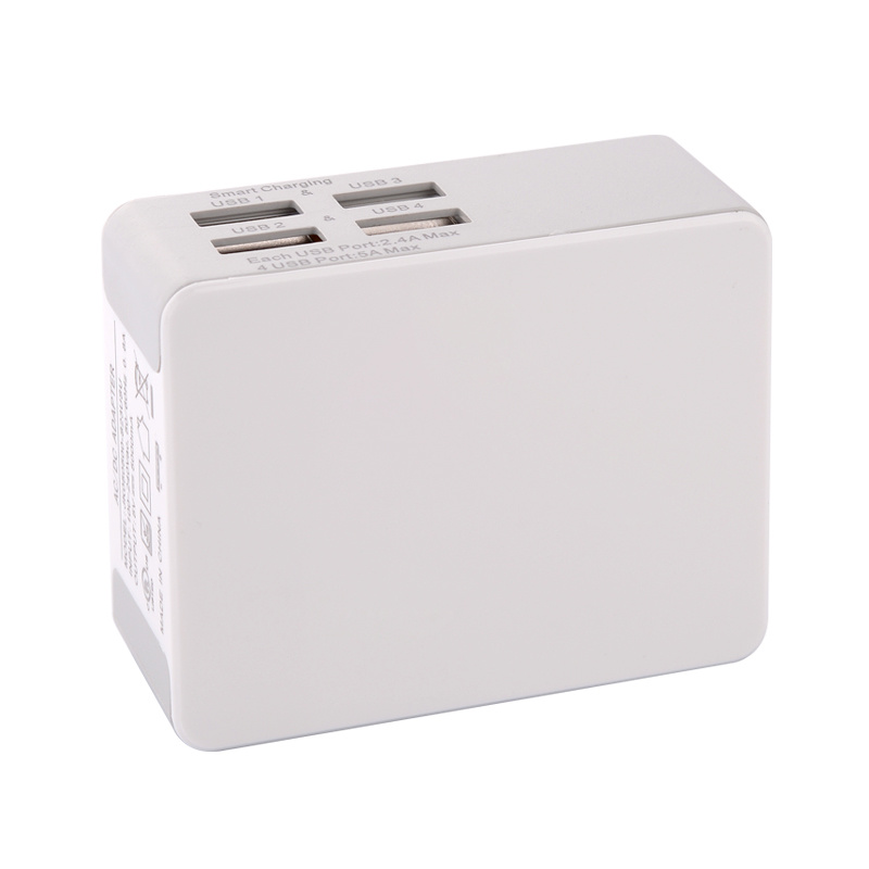4.8A 4 USB Us Plug Portable Mobile Phone Travel Charger