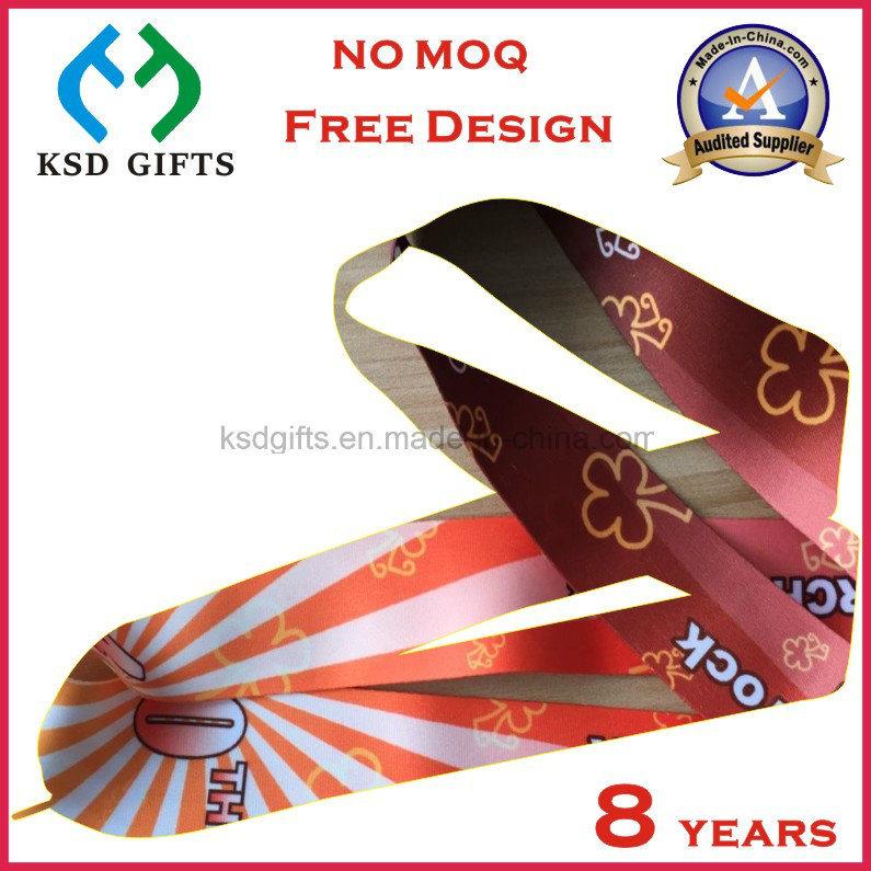 Cmyk Printed Make Your Own Design Reward Medal Ribbon